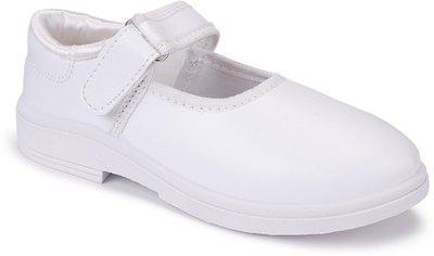 Bersache School Shoes, Slip-On,PVC Shoes for Girls (1209) White