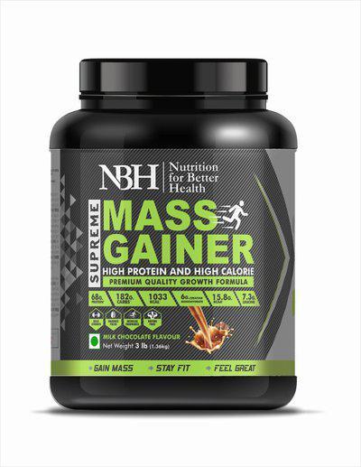 NBH Supreme Mass Gainer Weight Gainers/Mass Gainers(1.36 kg, Milk Chocolate)