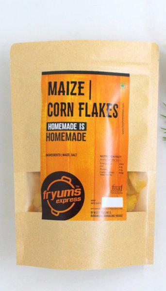 Fryums Express Maize corn flakes snack ready to fry Fryums 225 g