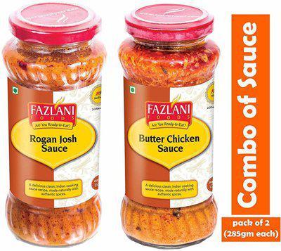 FAZLANI FOODS Sauce Combo of Butter chicken sauce & Rogan Josh Sauce(570 g)