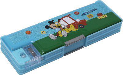 Disney MICKEY MOUSE MICKEY MOUSE Art Plastic Pencil Box(Set of 1, Light Blue)
