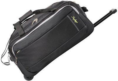 Skybags CARDIFF (E) DUFFLE TROLLY 62 BLACK Duffel Strolley Bag(Black)
