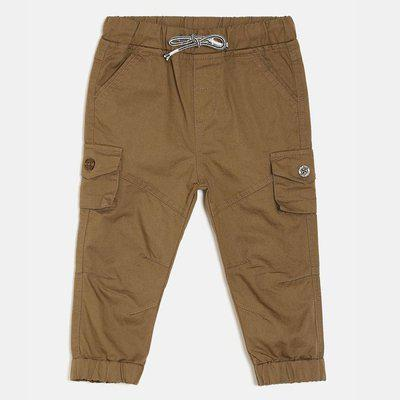 Mini Klub Regular Fit Boys Brown Trousers