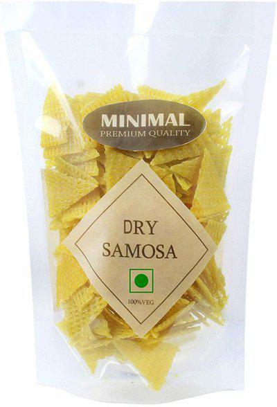 Minimal Ready-to-Fry Dry Samosa(Crunchy and Tasty, Ready to Fry) Fryums 250 g