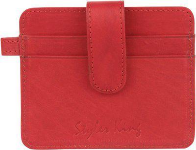 Styler King Genuine Leather Men Card Holder Red