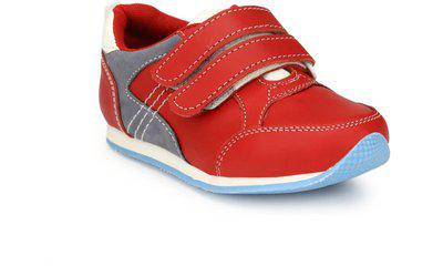 Tuskey Boys Velcro Casual Boots(Red)