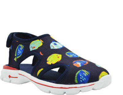 KazarMax Boys & Girls Velcro Flats(Dark Blue)
