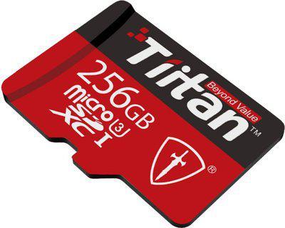 Tiitan Ultra 256 GB MicroSDXC UHS Class 3 300 MB s Memory Card(With Adapter)