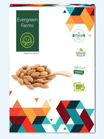 Evergreen Farms Californian Premium Whole Almonds 1kg Almonds(2 x 0.5 kg)