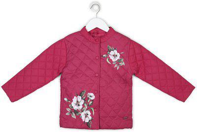Palm Tree Full Sleeve Printed Girls Jacket