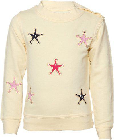 Tales & Stories Full Sleeve Applique Baby Girls Sweatshirt