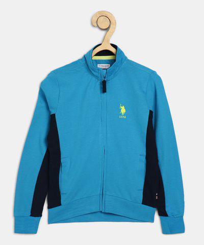 US Polo Kids Full Sleeve Solid Baby Boys Sweatshirt