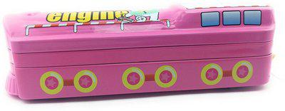 Oytra Train Pink Metal Pencil Box Train Art Metal Pencil Box(Set of 1, Pink, Blue)