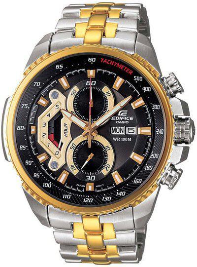 Casio Edifice Chronograph Steel Gold Dial Mens Watch  EF558SG1AVDFED439