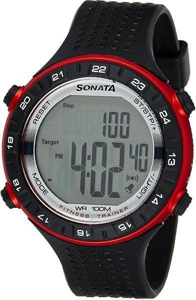 SONATA 77040PP02 Digital Watch - For Men