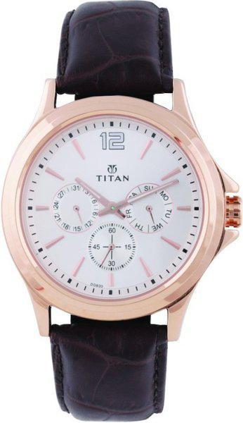 TITAN Men Analog Watch with Leather Strap - NM1698WL01