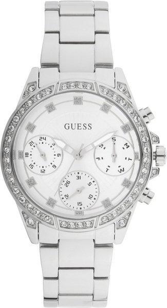 Guess Womens Gemini Silver Color Watch  W1293L1