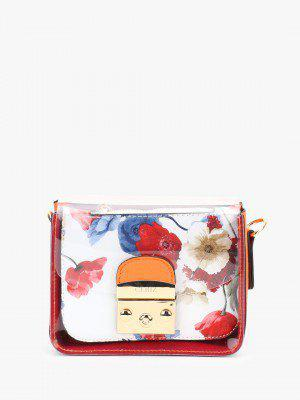 Ceriz Contrast Tape Floral Pouch Sling Bag