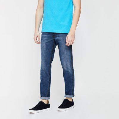 LEVI'S Stone-Washed Low-Rise Regular Fit Jeans