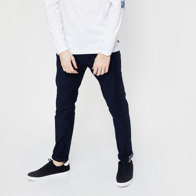 LEVI'S Solid Low Rise Trousers with Denim Panel