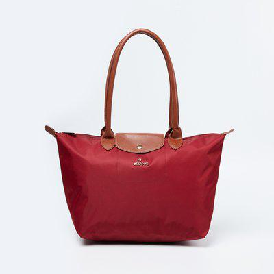 LAVIE Rolled Handles Solid Tote Bag