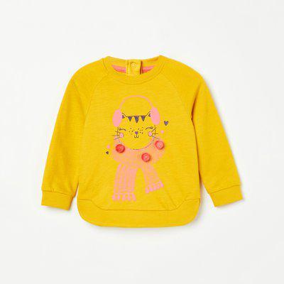 FS MINI KLUB Graphic Print Sweatshirt with Raglan Sleeves