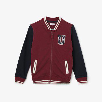 U.S. POLO ASSN. KIDS Varsity Jacket with Baseball Collar