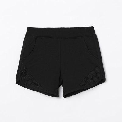 BOSSINI Solid Shorts with Lace Inserts