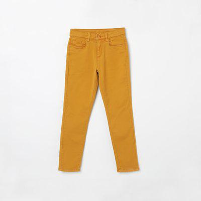 BOSSINI Regular Fit Boys Yellow Trousers
