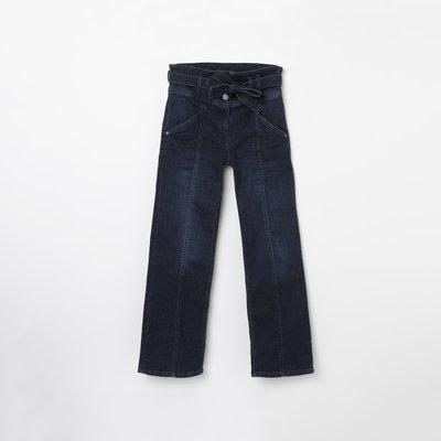 ALLEN SOLLY Dark Washed Jeans with Sash Tie-Up