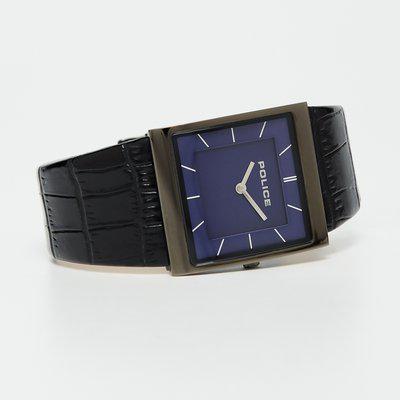 POLICE Black Leather Men's Wristwatch-PL15395BSU03