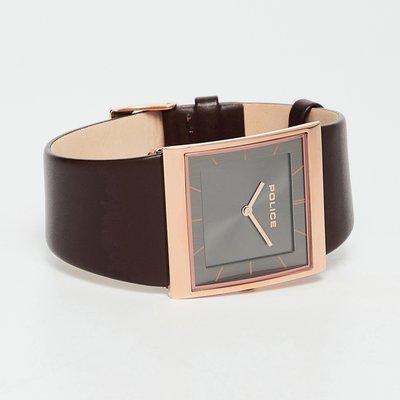 POLICE Brown Leather Men's Wristwatch-PL15395USR61