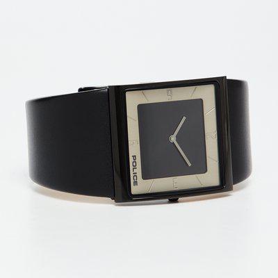 POLICE Black Leather Men's Wristwatch-PL15395MSB02