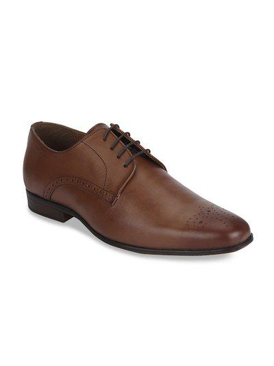 Red Tape Leather Formal Brogue Brogues For Men(Tan)