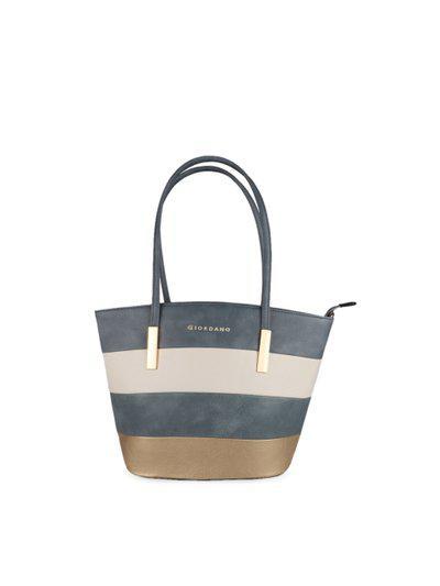 GIORDANO Women Grey & Beige Colourblocked Shoulder Bag