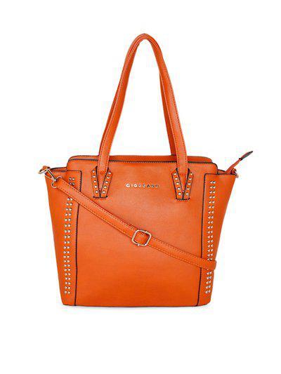 GIORDANO Brown Embellished Shoulder Bag