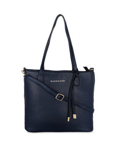 GIORDANO Navy Blue Solid Shoulder Bag