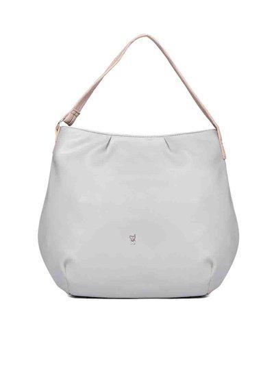 Baggit Grey Solid Hobo Bag