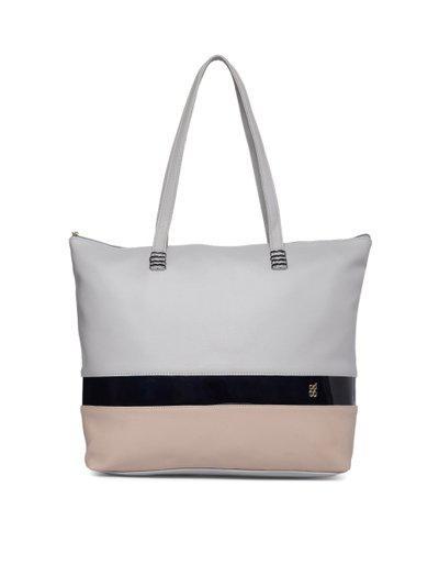 Baggit Grey & Brown Colourblocked Shoulder Bag