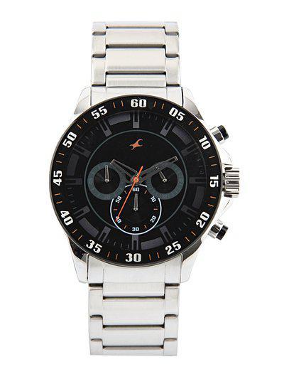 Fastrack Men Black Dial Chronograph Watch 3072SM04