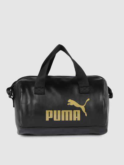 Puma Black Solid Handheld Bag