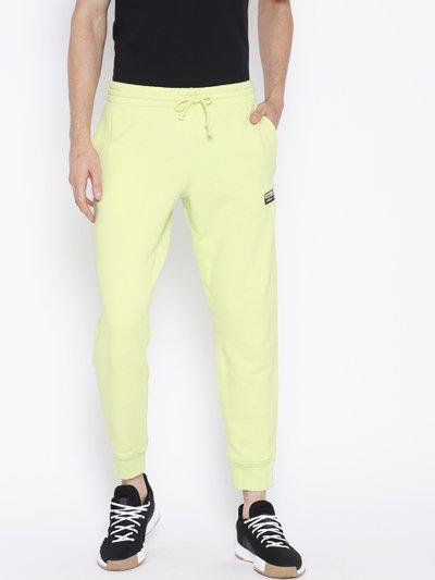 ADIDAS Originals Men Lime Green D-R.Y.V Solid Joggers