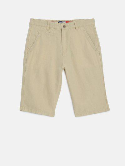 Gini and Jony Boys Khaki Solid Chino Shorts