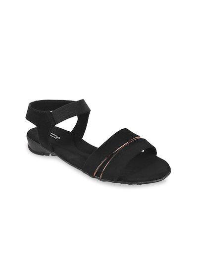 Metro Women's Black Fashion Sandals/India (37 EU) (32-8974-11-37)