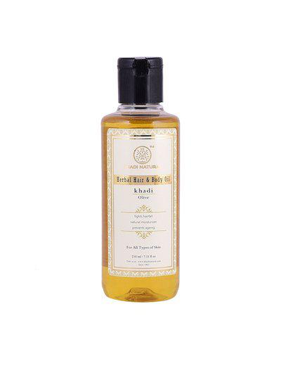 Khadi Natural Olive Herbal Hair & Body Oil 210 ml