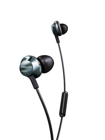 Philips Black Earphones with Mic