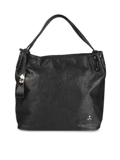 Mochi Black Solid Handheld Bag