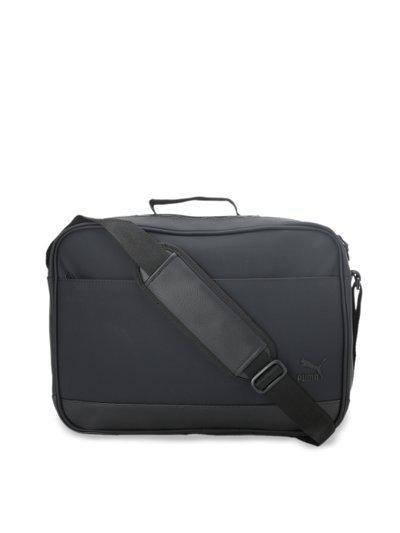 Puma Black Solid Originals Reporter Handheld Bag