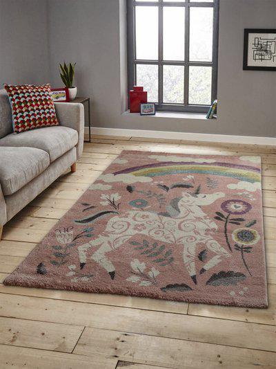 OBSESSIONS Multicoloured Printed Anti-Skid Rectangular Carpet