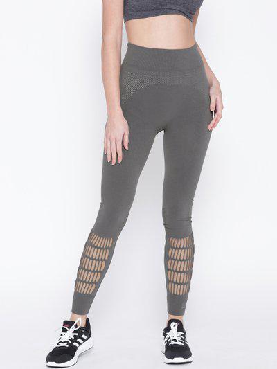 Stella Mccartny by ADIDAS Women Grey Warp Knit Studio Tights